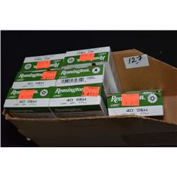 Box Lot : Seven Boxes( 50 rnds ) Rem .40 S & W Cal 180 Grain FMJ Ammo Retail $ 25.99