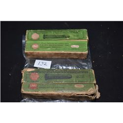 Two boxes of vintage collector ammunition including Remington .40-65 for Winchester and Marlin conta
