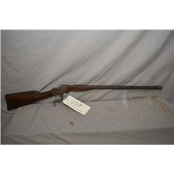 "Stevens model 83 Take-down single shot, .22 LR falling block rifle w/24"" bbl [blued finish turned mo"