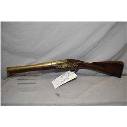 """Antique - Reed ( London ) Model Blunderbluss .76 Flintlock Cal ? Flintlock Blunderbuss w/ 14"""" brass"""