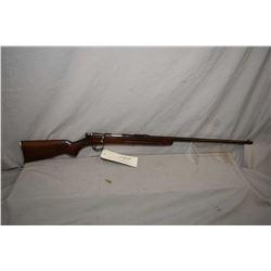 "Remington Model 33 .22 LR Cal Single Shot Bolt Action Rifle w/ 24"" bbl [ fading blue finish turning"