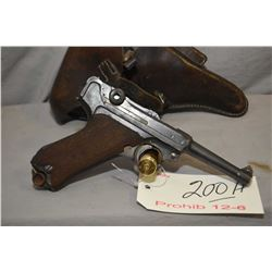 Prohib 12 - 6 Luger ( Erfurt Dated 1917 ) P08 .9 MM Luger Cal 8 Shot Semi Auto Pistol w/ 102 mm bbl