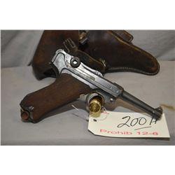 Prohib 12 - 6 Luger ( Erfurt Dated 1917 ) P08 .9 MM Luger Cal 8 Shot Semi Auto Pistol w/ 102 mm bbl