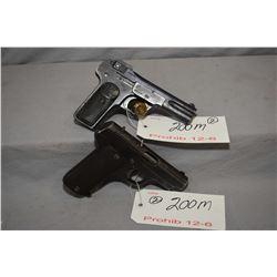 Lot of Two Prohib 12 - 6 Firearms : Anzanza Y Arrizabalaga Model 1916 .32 Auto Cal 9 Shot Semi Auto