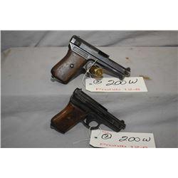 Lot of Two Prohib 12 - 6 Handguns : Mauser Model 1910 6.35 MM Cal 9 Shot Semi Auto Pistol w/ 76 mm b