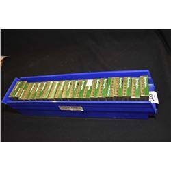 Blue Plastic Tray : Twenty Boxes ( 5 rnds per ) Rem Accu Tip .20 Ga 2 3/4  Bonded Sabot Slugs Retail