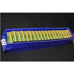 "Blue Plastic Tray : Twenty Boxes ( 5 rnds per ) Rem Copper Solid Sabot Slugs .20 Ga 2 3/4"" Shot Shel"
