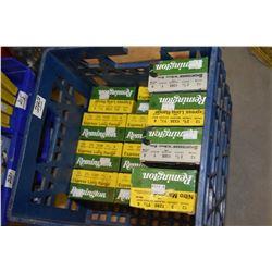 "Blue Plastic Crate : Ten Boxes Rem Express Long Range .12 Ga 2 3/4"" # 6 - Two Boxes Rem 3"" Nitro Mag"