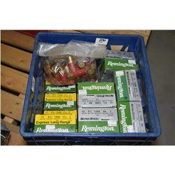 "Blue Plastic Crate : Eleven Boxes Rem Nitro Steel .12 Ga 3"" & 3 1/2"" T Shot Shells Retail $ 27.99 -"