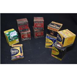 Nine full boxes of vintage 410 shot gun shells and two 5 count boxes