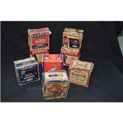 Eight vintage boxes of 16 gauge shotgun ammunition