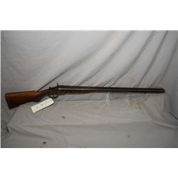 "Alger Arms Co. double barrel side X side, hinge break shotgun w/ 30"" bbl. [blued finish turning grey"