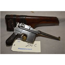 Restricted - Mauser ( Oberndort ) Model C 96 Broomhandle 7.63 MM Mauser Cal 10 Shot Semi Auto Pistol