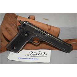 Restricted - Colt Model 1902 .38 Auto Cal 7 Shot Semi Auto Pistol w/ 152 mm bbl [ fading blue finish