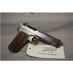 Restricted - Steyr Model 1912 Dated 1916 .9 MM Cal 8 Shot Semi Auto Pistol w/ 127 mm bbl [ fading pa