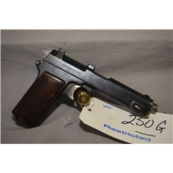 Restricted - Steyr ( Ejercito De Chile ) Model 1911 Dated 1912 .9 MM Steyr Cal 8 Shot Semi Auto Pist