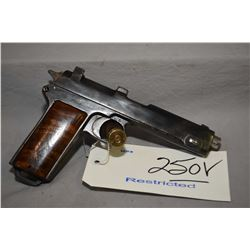Restricted - Steyr Model 1912 Dated 1919 .9 MM Cal 8 Shot Semi Auto Pistol w/ 127 mm bbl [ patchy fa