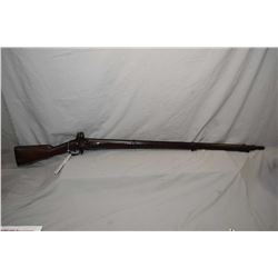 "Antique - Unknown European Three Band .69 Flintlock Cal Full Wood Military Musket w/ approx. 42"" bbl"
