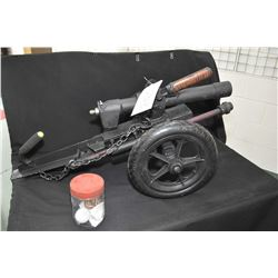 "Medium Sized Hand Made Cannon w/ 2"" bbl, Shoots golf balls approx. 700 yards"