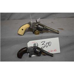 Lot of Two Prohib 12 - 6 Handguns : Hopkins & Allen Model Blue Jacket No. 1 1/2 .22 Rimfire Cal 7 Sh