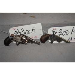 Lot of Two Prohib 12 - 6 Handguns : Unknown Belgian Model Derringer .22 Rimfire Cal 1 Shot Single Sh