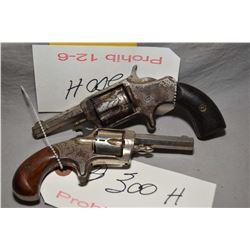 Lot of Two Prohib 12 - 6 Handguns : Hopkins & Allen Model XL No. 2 .32 Short Rimfire Cal 5 Shot Revo