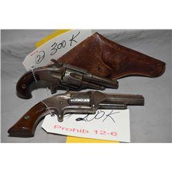 Lot of Two Prohib 12 - 6 Handguns : Otis A Smith Model 1873 Smith Patent .38 Rimfire Cal 5 Shot Revo