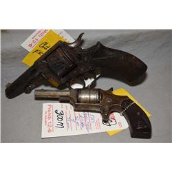 Lot of Two Prohib 12 - 6 Handguns : Webley Model RIC No. 1 .442 Revolver Cal 6 Shot Revolver w/ 89 m