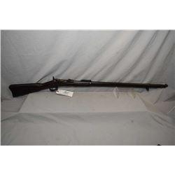 Antique - U.S Springfield Model 1888 Dated 1884 .45 - 70 Cal Single Shot Trap Door Full Wood Militar