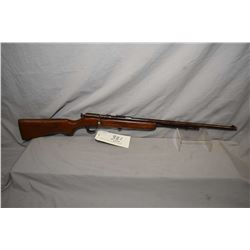 "Cooey Model 60 .22 LR Cal Tube Fed Bolt Action Rifle w/ 24"" bbl [ patchy faded blue finish turned br"