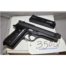 RESTRICTED Beretti 92 S , 9mm semi-automatic pistol w/ 124mm bbl. [blued finish, used Israeli police