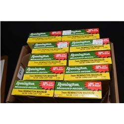 Bag Lot : Ten Boxes ( 20 rnds ) Rem Managed Recoil .7 MM Rem Mag Cal 140 Grain Ammo Retail $ 33.99