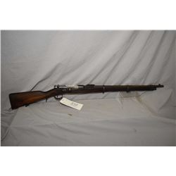 Kropatschek ( Steyr ) Mod 1886 Dated 1886 .8 x 60 R Krop Cal Full Wood Military Bolt Action Rifle w/
