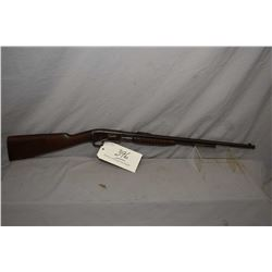 "Remington Model 12 A .22 LR Cal Pump Action Tube Fed Rifle w/ 22"" bbl [ faded blue finish turned bro"