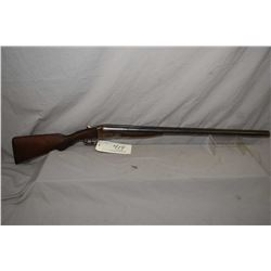 "N.R. Davis & Sons Model S X S Hammerless .12 Ga Shotgun w/ 30"" bbls [ fading blue finish, traces of"