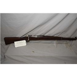 """Mauser Model 1909 full wood carbine, 7.65 X 53 mag fed bolt action rifle w/ 22 1/2"""" bbl. [ blued sty"""