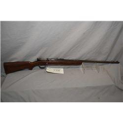 "Savage Model 3 B .22 LR Cal Single Shot Bolt Action Rifle w/ 26"" bbl [ faded blue finish, turning br"