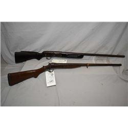 "Lot of Two Firearms : Stevens Model 124 .12 Ga 2 3/4"" Bolt Action Shotgun w/ 28"" bbl [ faded blue fi"