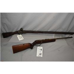 """Lot of Two Firearms : Cooey Model 39 .22 LR Cal Single Shot Bolt Action Rifle w/ 22"""" bbl [ patchy fa"""