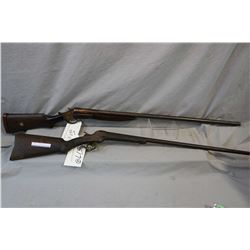 "Lot of Two Firearms : Stevens Model Dreadnaught .12 Ga Cannon Breech Break Action Shotgun w/ 36"" bbl"