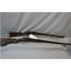 Lot of Two Firearms: Machine Made Model Side by Side Hammer .10 Ga Break Action Shotgun w/ 31 3/4  b