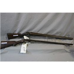 Lot of Two Firearms : J.C. Smith ( England ) Model Side By Side Hammer .12 Ga Break Action Shotgun w