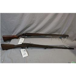 Lot of Two Firearms : James, Enos & Co. England Model Side By Side Hammer .12 Ga Break Action Shotgu