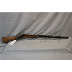 "Antique - Smith Model Half Stocked Fowler .12 Ga Perc Cal Single Shot Black Powder Shotgun w/ 31"" bb"