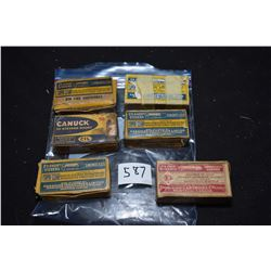 Six boxes of vintage collector ammunition including four full boxes of fifty rounds CIL .25 short St