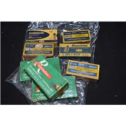 Eight boxes of vintage .32 S&W collector ammunition including three Remington fifty count boxes incl