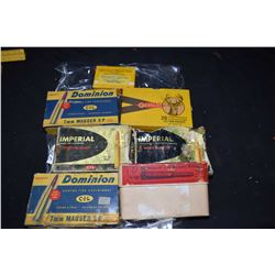 Seven boxes of 7mm Mauser ammunition including two full boxes of twenty round CIL, full box of UMC t