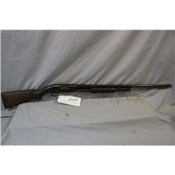 "Winchester Model 12 .12 Ga 2 3/4"" Pump Action Shotgun w/ 30"" bbl [ fading blue finish, plain pistol"