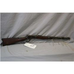 "Winchester Model 1892 .25 - 20 WCF Cal Lever Action Saddle Ring Carbine w/ 20"" bbl [ traces of fadin"