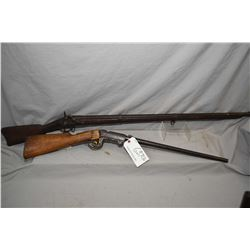 Lot of Two Antique Firearms : US Springfield Model 1861 Dated 1862 .58 Perc Cal Single Shot Full Woo